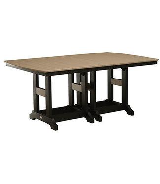"Berlin Gardens Garden Classic 44"" x 72"" Rectangular Table (Bar Height) Natural Finish"