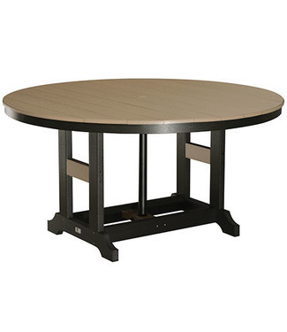 """Berlin Gardens Garden Classic 60"""" Round Table (Counter Height) Natural Finish"""