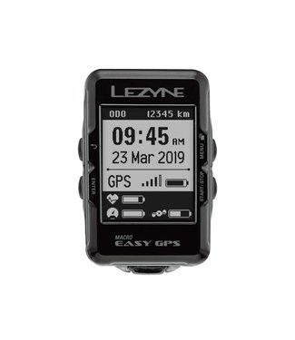 Lezyne Macro Easy GPS Bike Computer - GPS, Wireless, Black