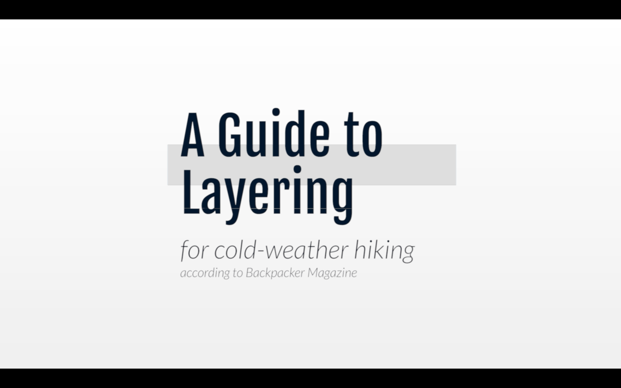 A Guide to Layering