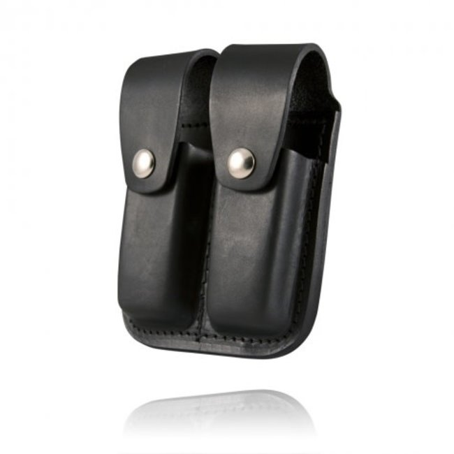 Boston Leather Boston Leather Double Mag 9Mm & 40 Mm Plain Clip Pouch