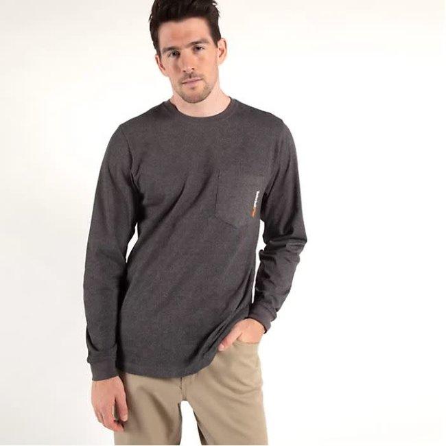 Timberland PRO Timberland Pro Base Plate Long Sleeve T-Shirt Dark Charcoal Heather