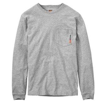 Timberland Pro Base Plate Long Sleeve T-Shirt Light Gray Heather