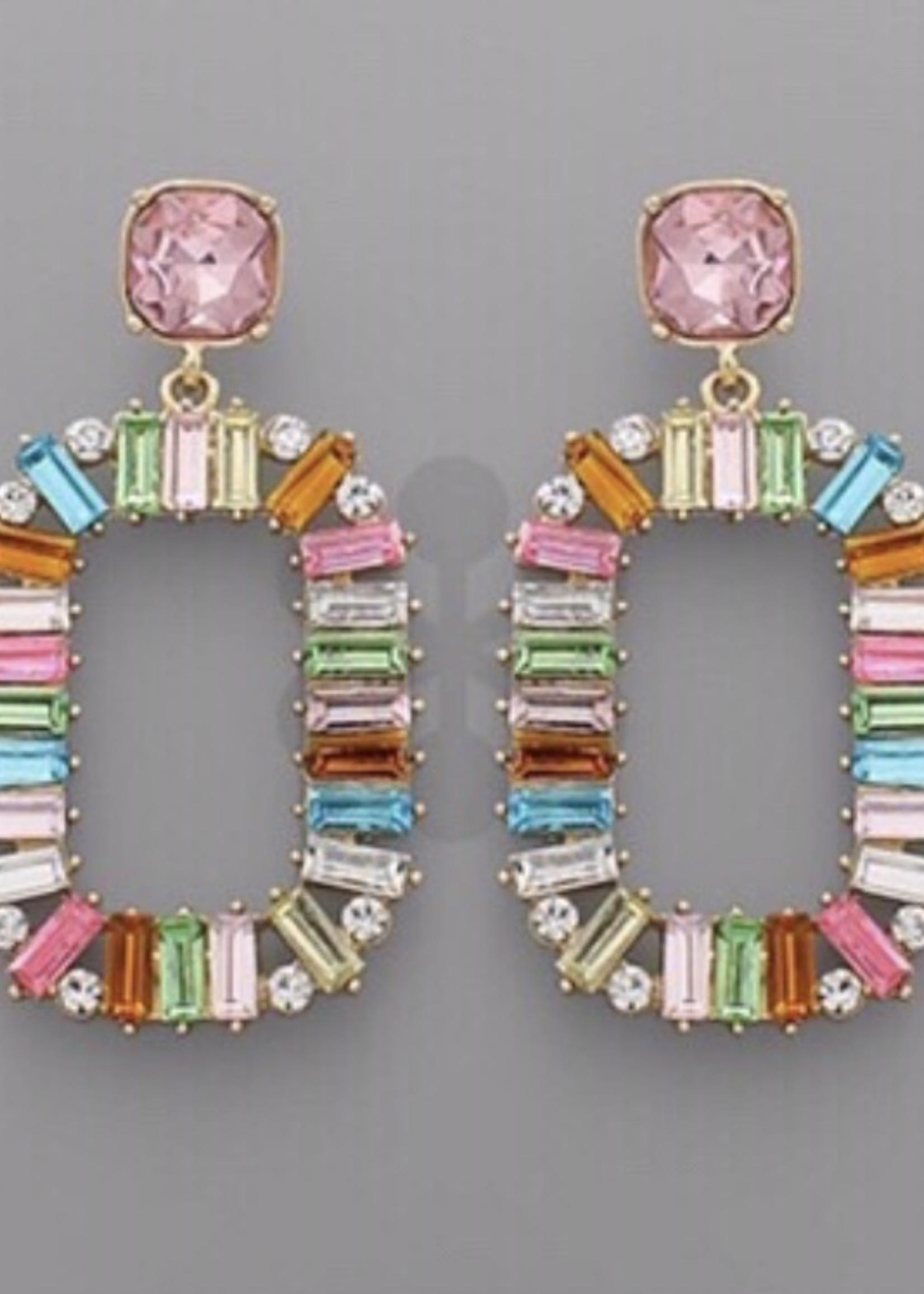 Baguette Colorful Earrings