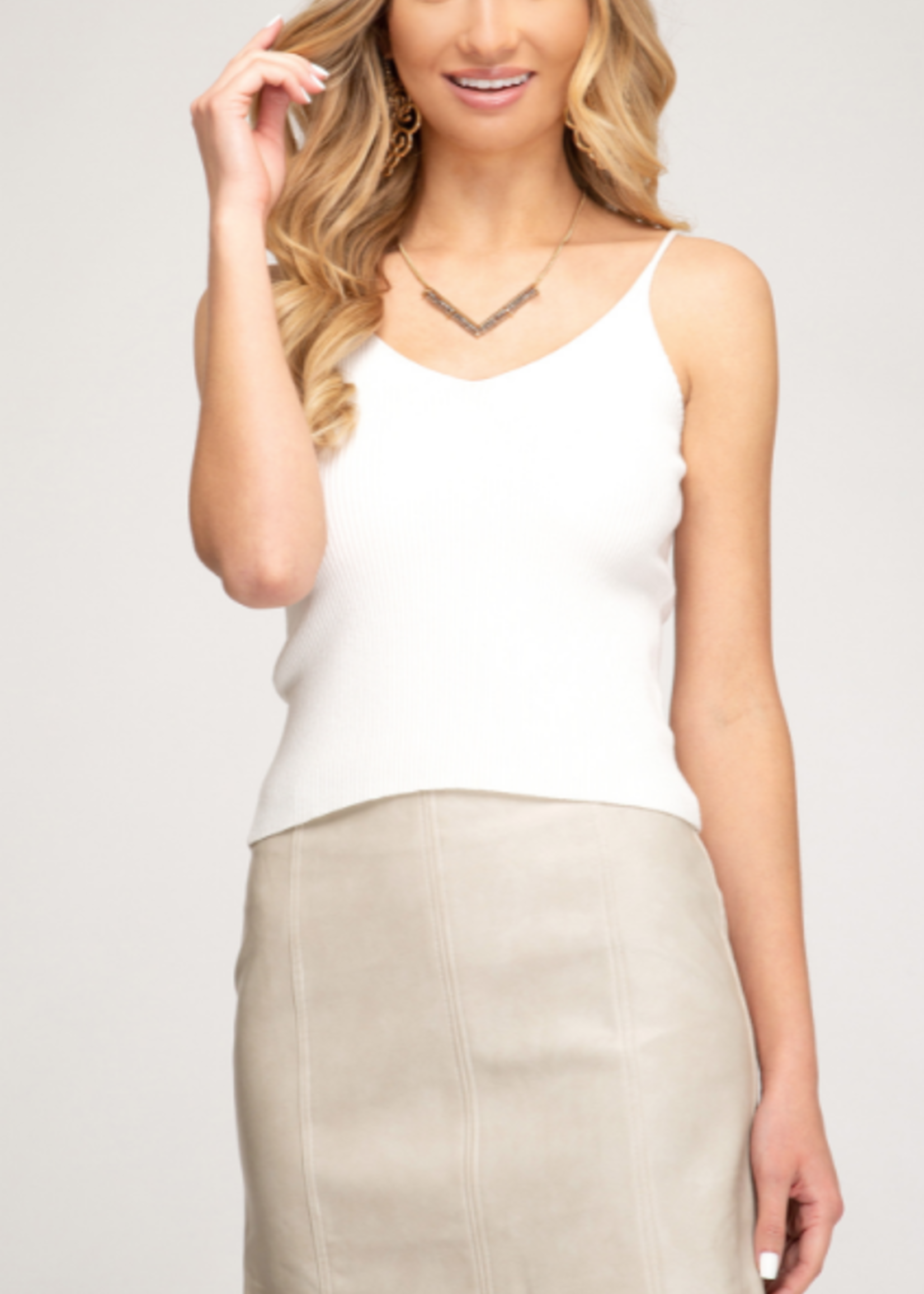 Hello Fall Light Taupe Leather Skirt
