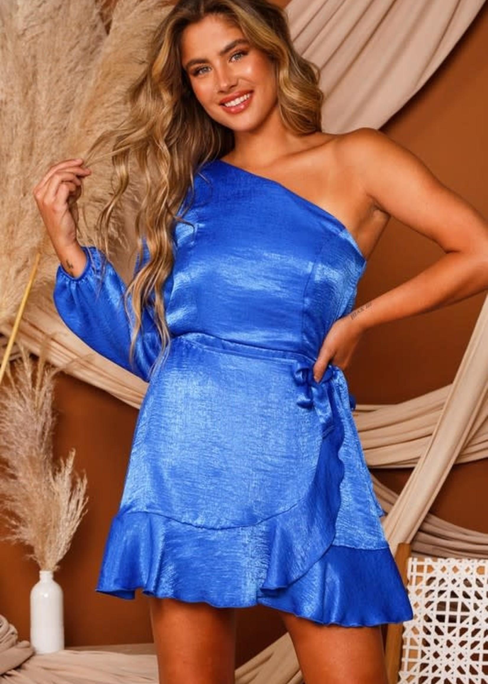 Royal Dream One Shoulder Satin Dress