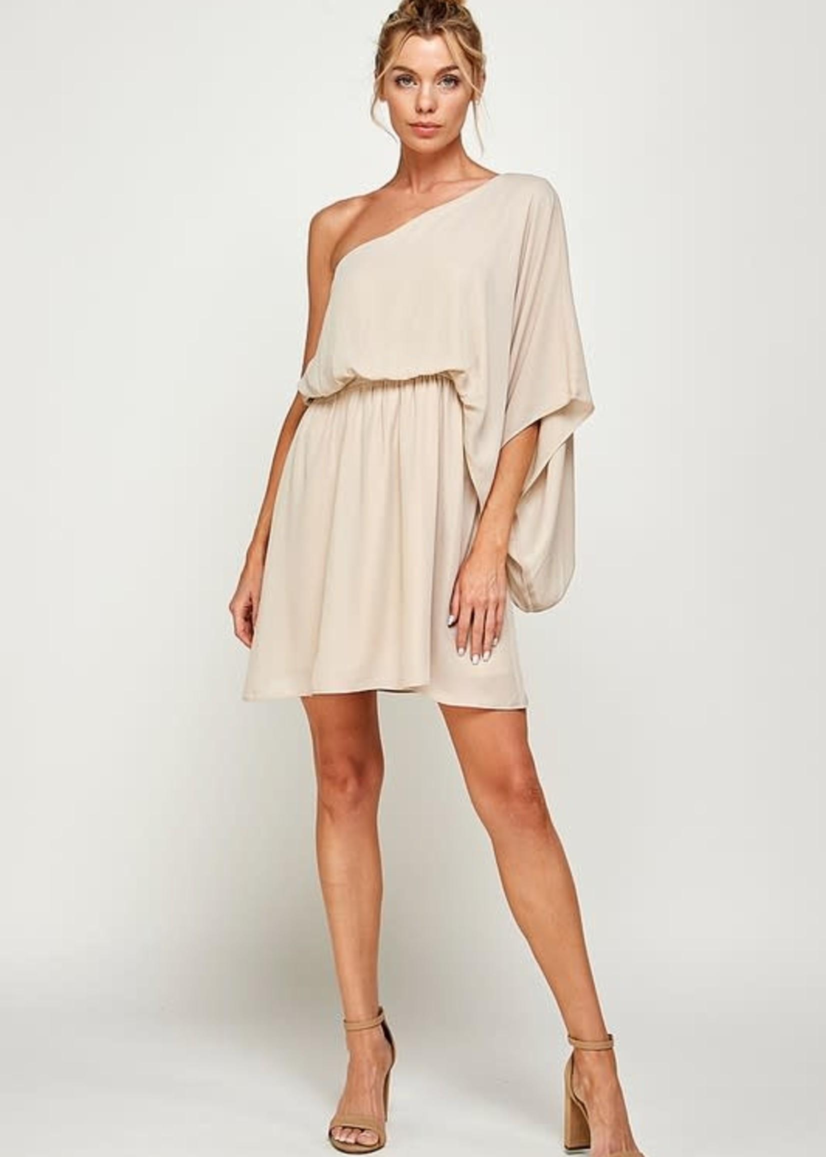 RSVP Yes One Shoulder Dress