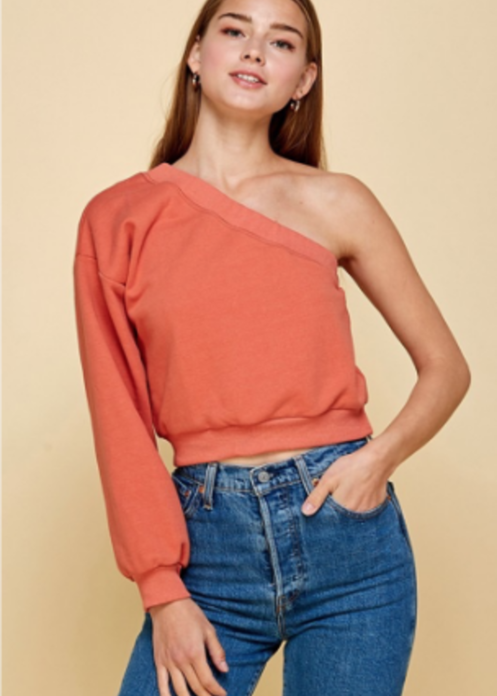 Fall With Me One Shoulder Top