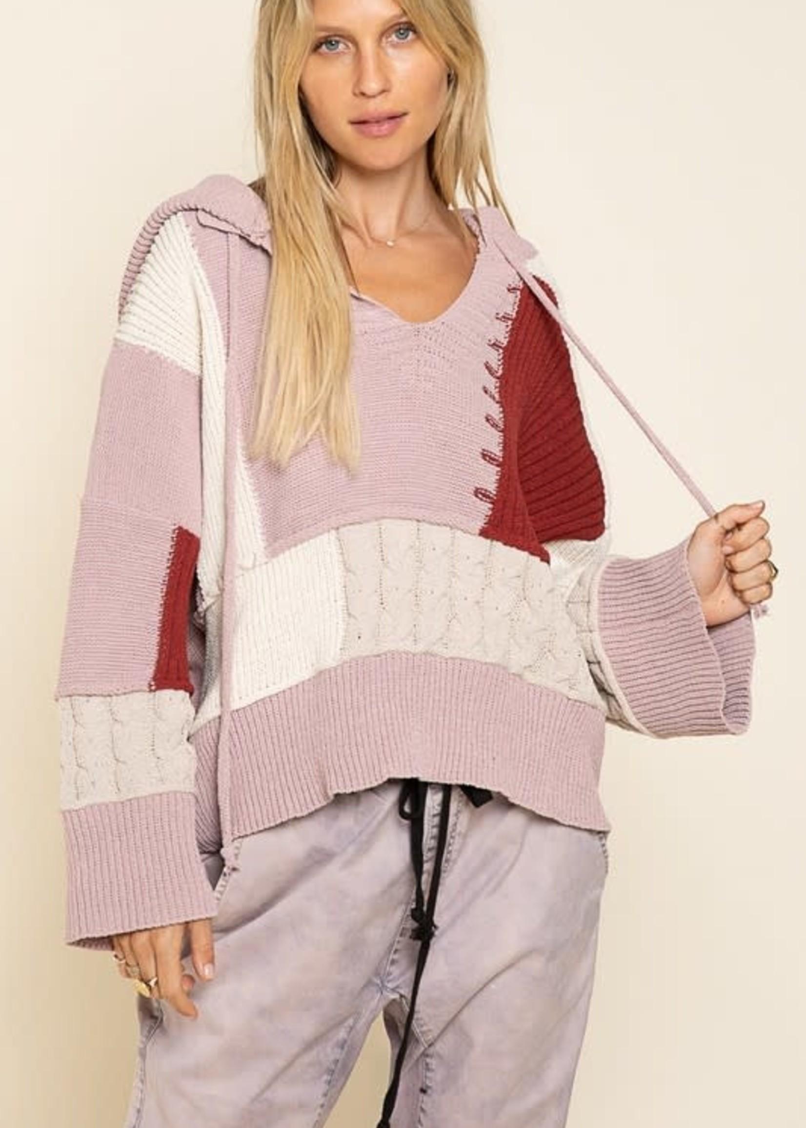 Best Of All Color Block Sweater Hoodie