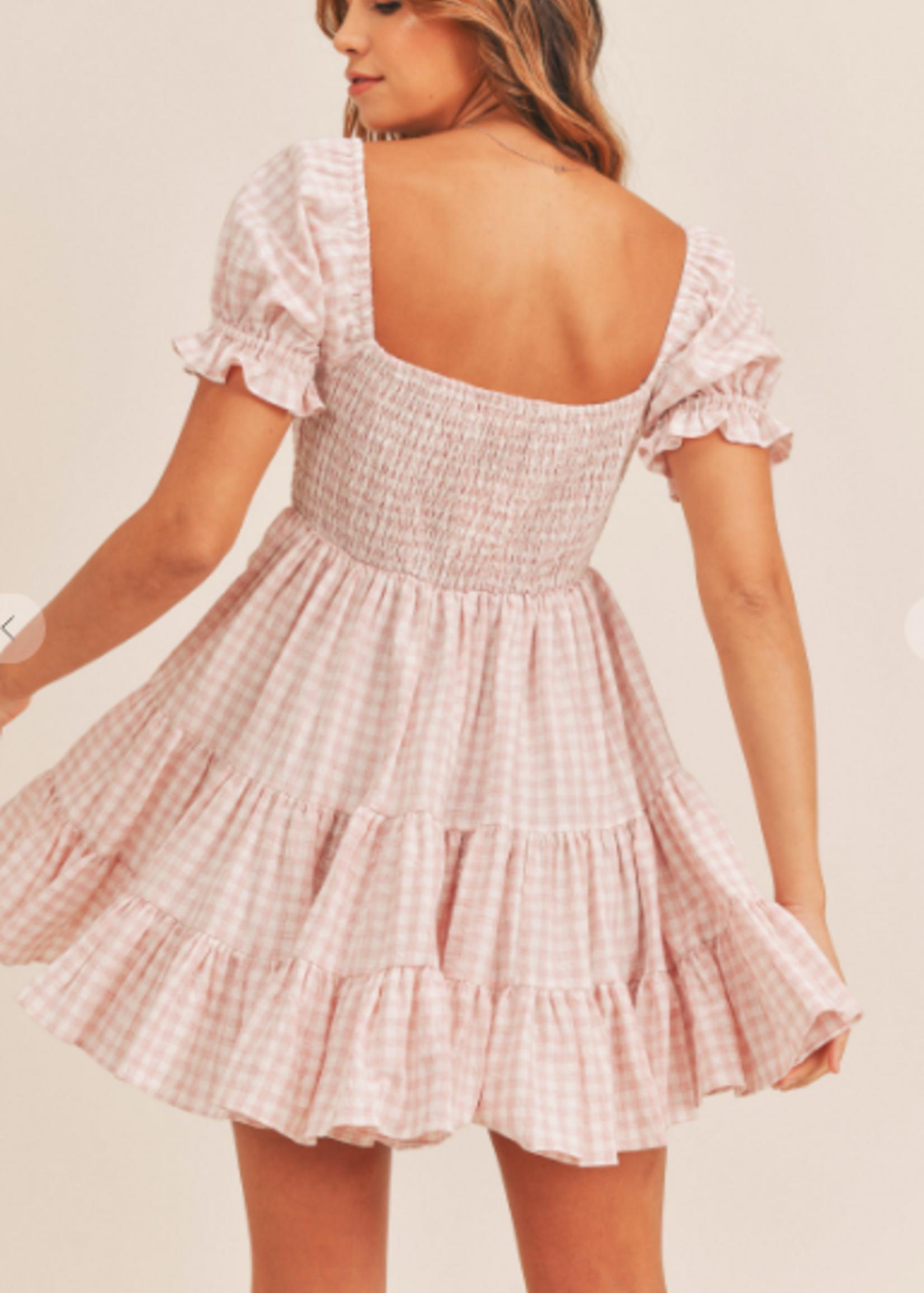 Go Girl Gingham Baby Doll Dress
