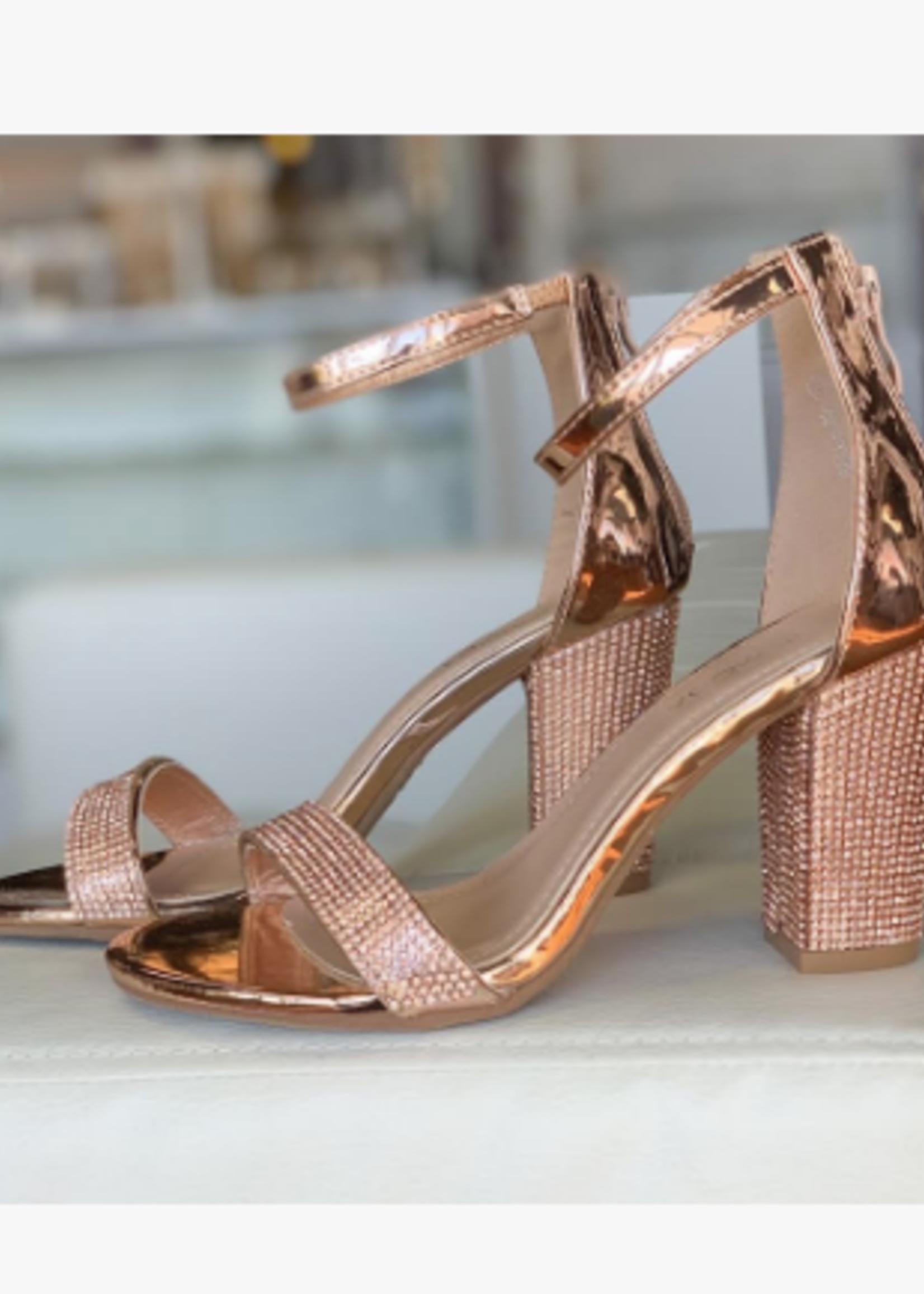 Night To Remember Rose Gold Embellished Heel