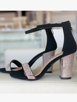 Night To Remember Black Embellished Heels