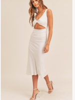 Summer With A Twist White Midi Dress