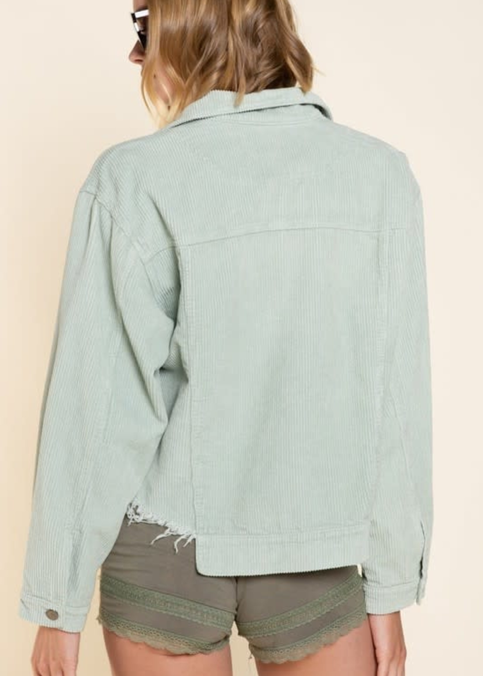 Call It A Day Sage Corduroy Jacket