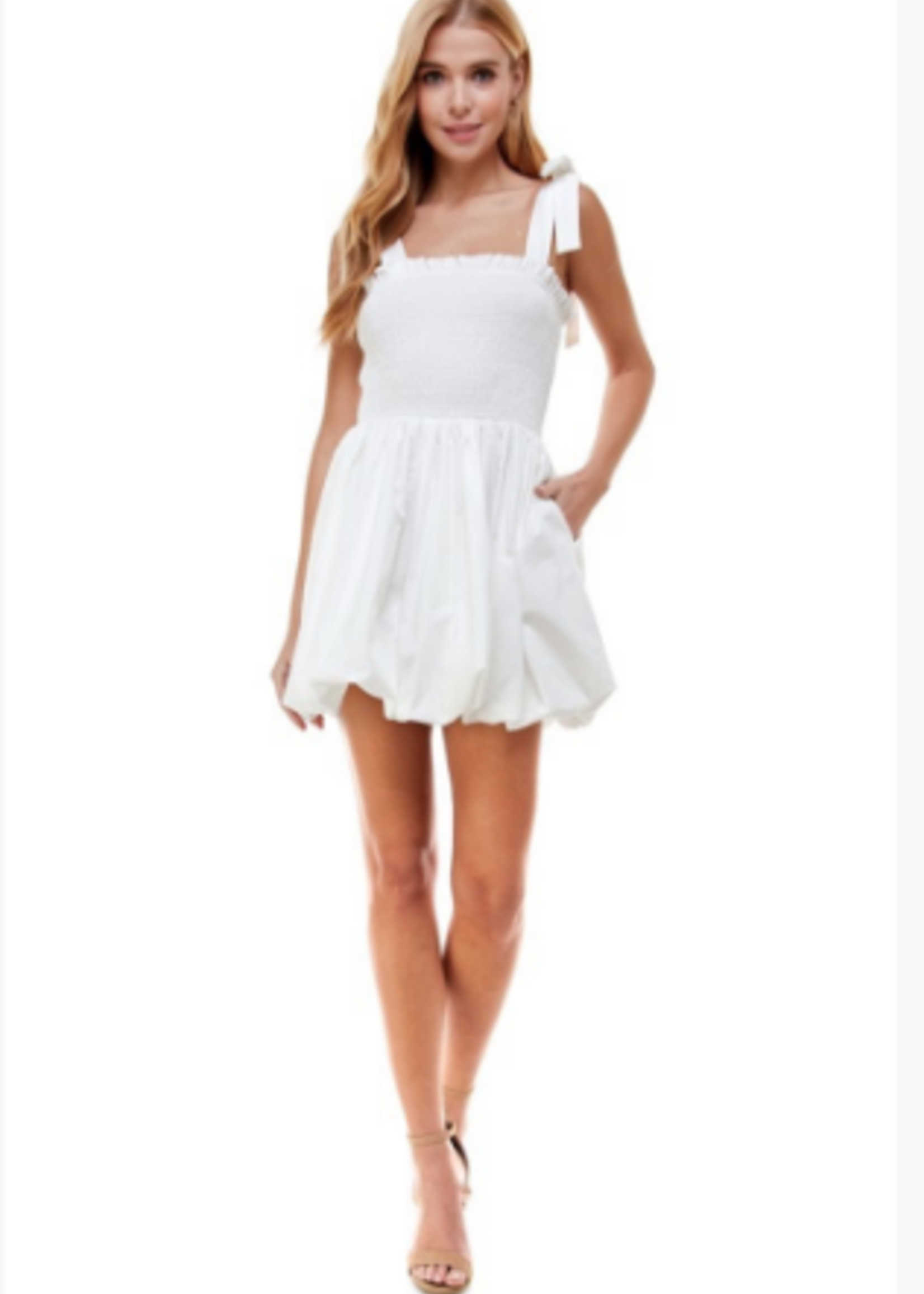 Best Day White Bubble Dress