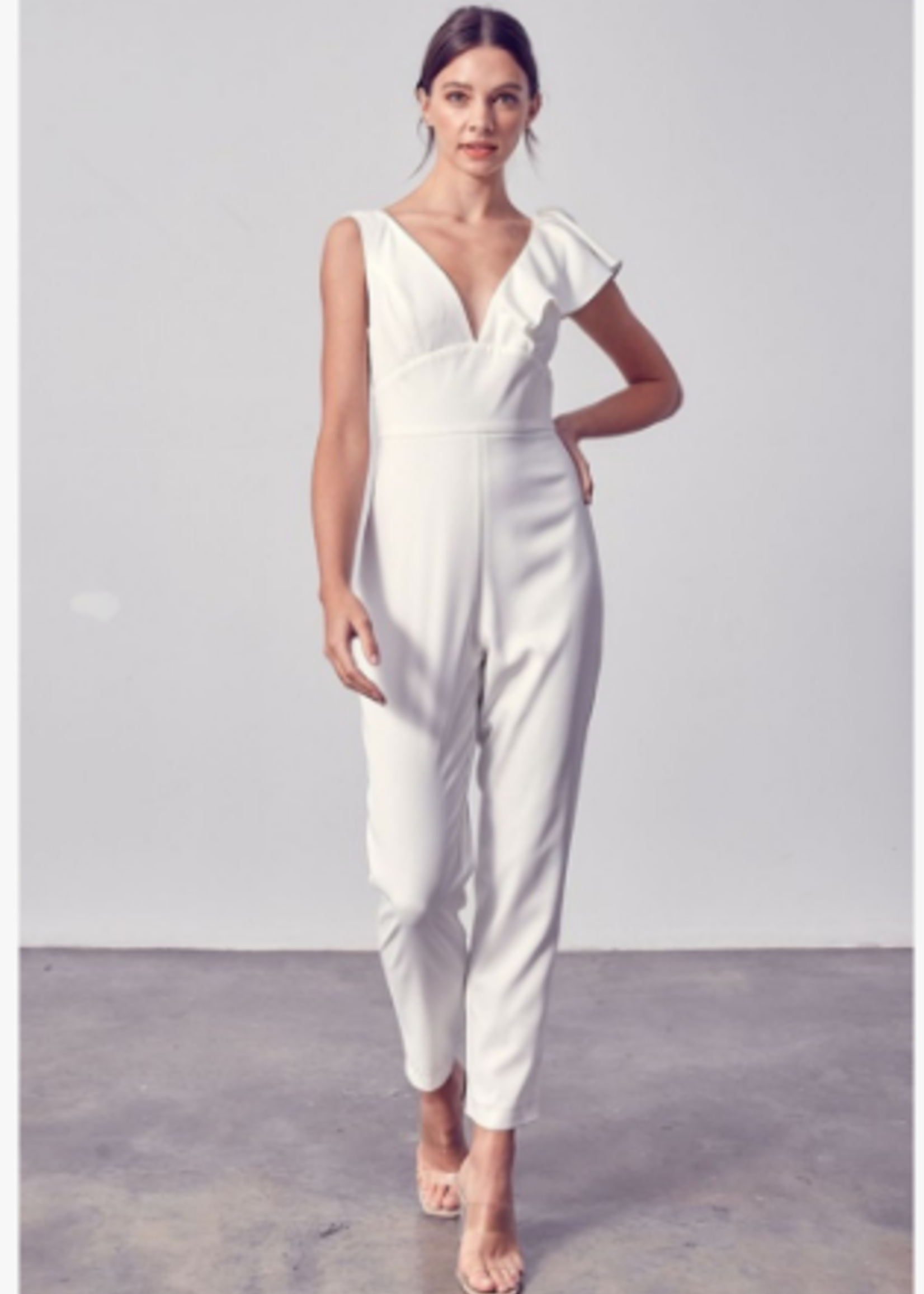 Celebrate The Moment White Jumpsuit