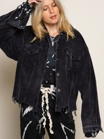 Call It A Day Corduroy Black Jacket