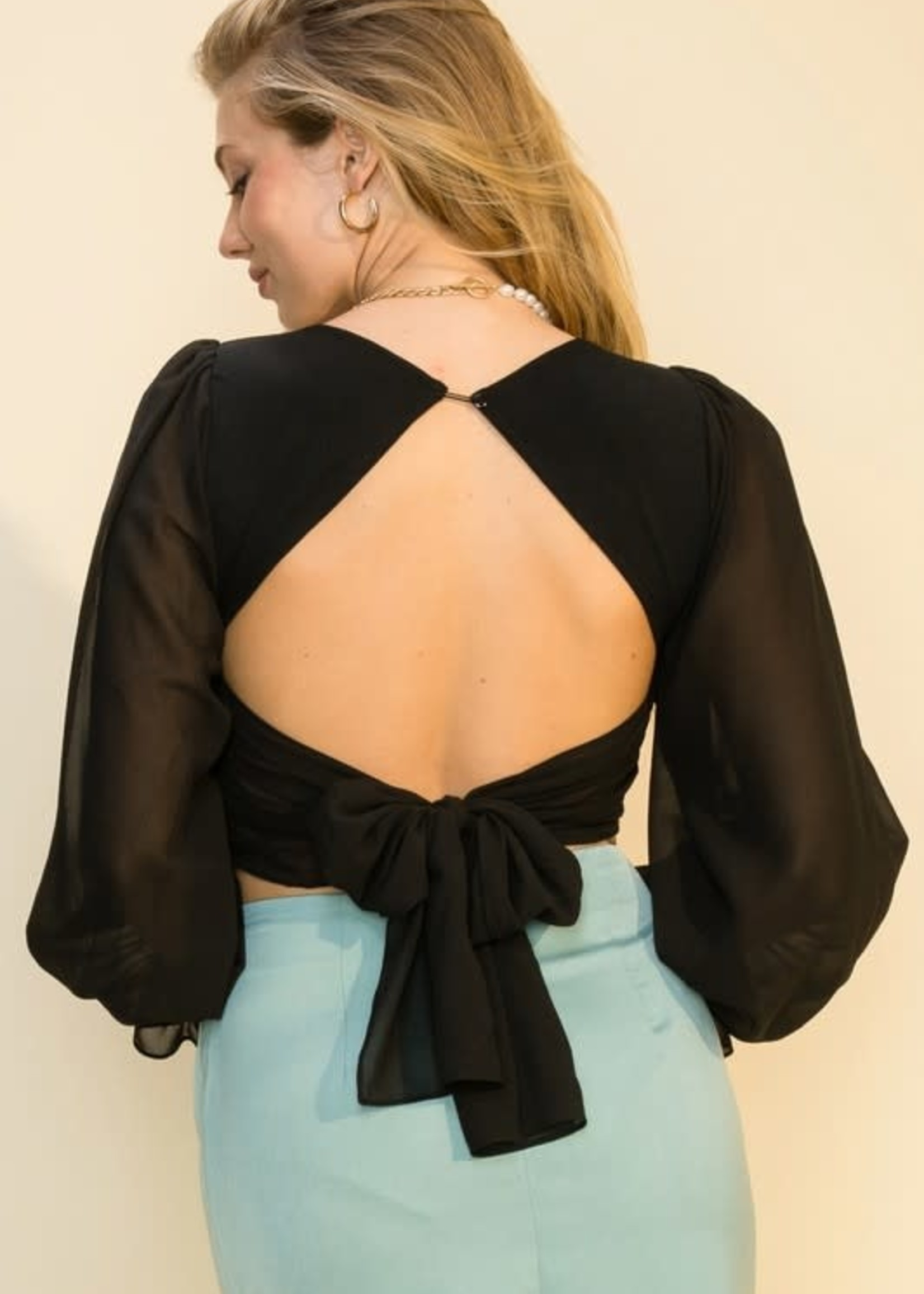 Open Back Party Top (3 Colors)