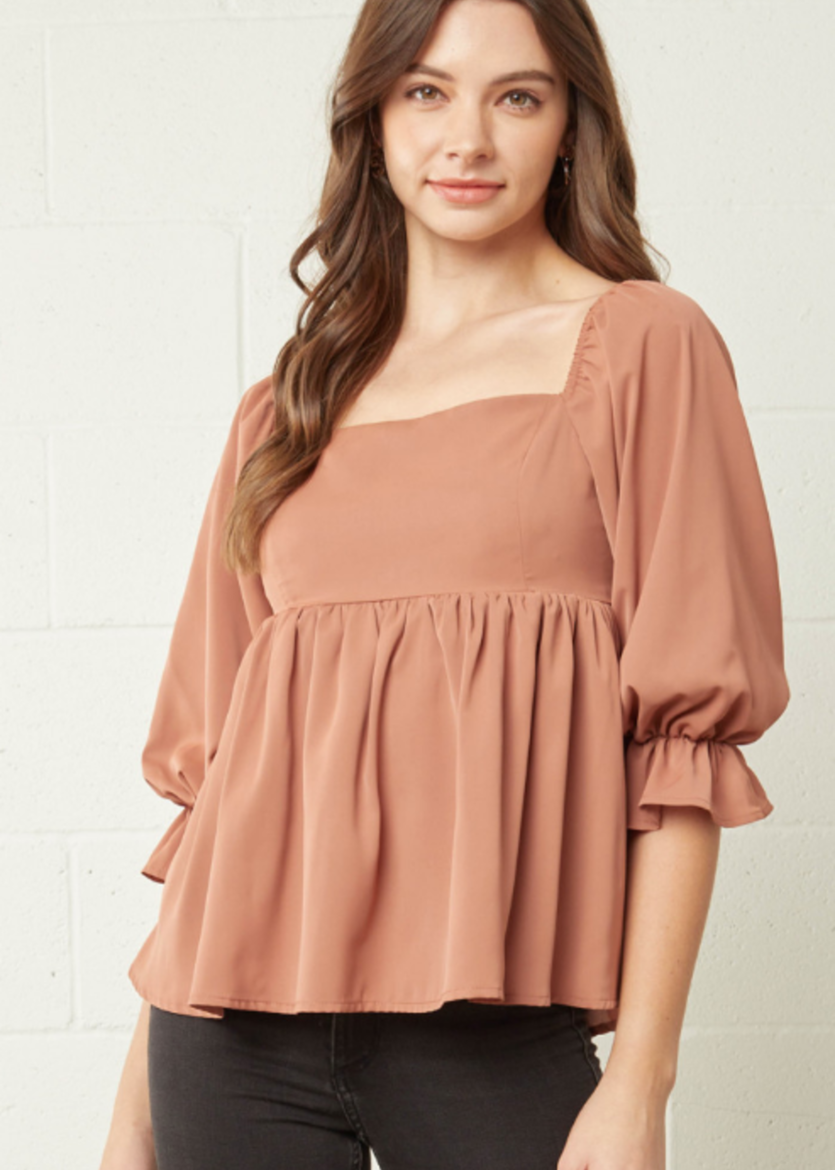 Best Days Baby Doll Top (2 Colors)