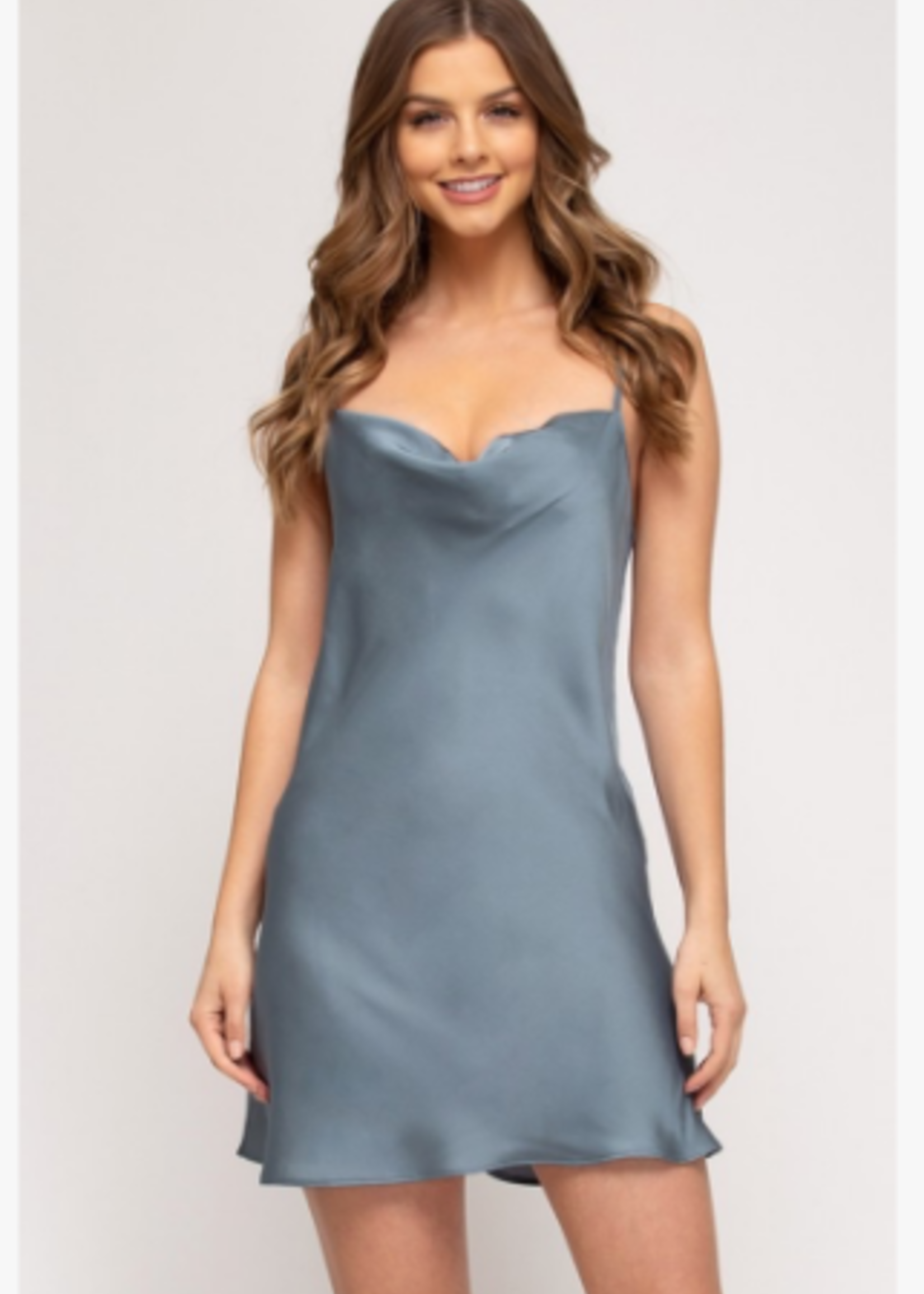 Satin Dreams Come True Dress (4 Colors Available)