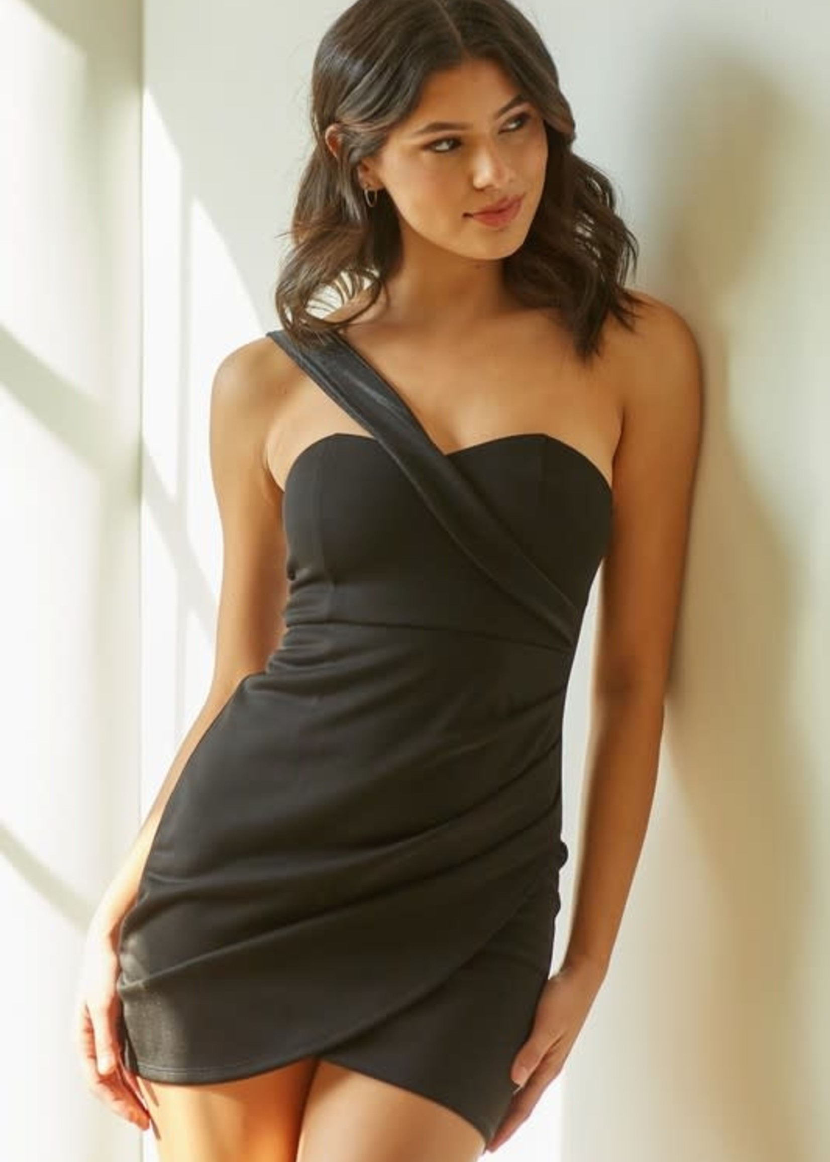 One Shoulder Ready To Party LBD
