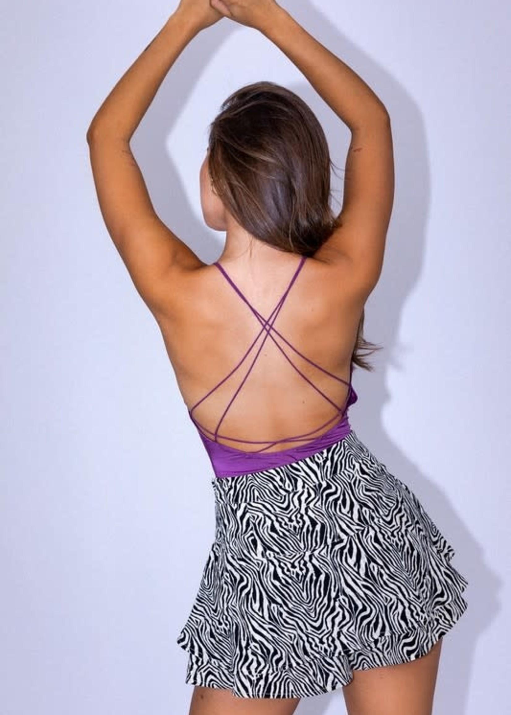 Strappy Back Purple Bodysuit