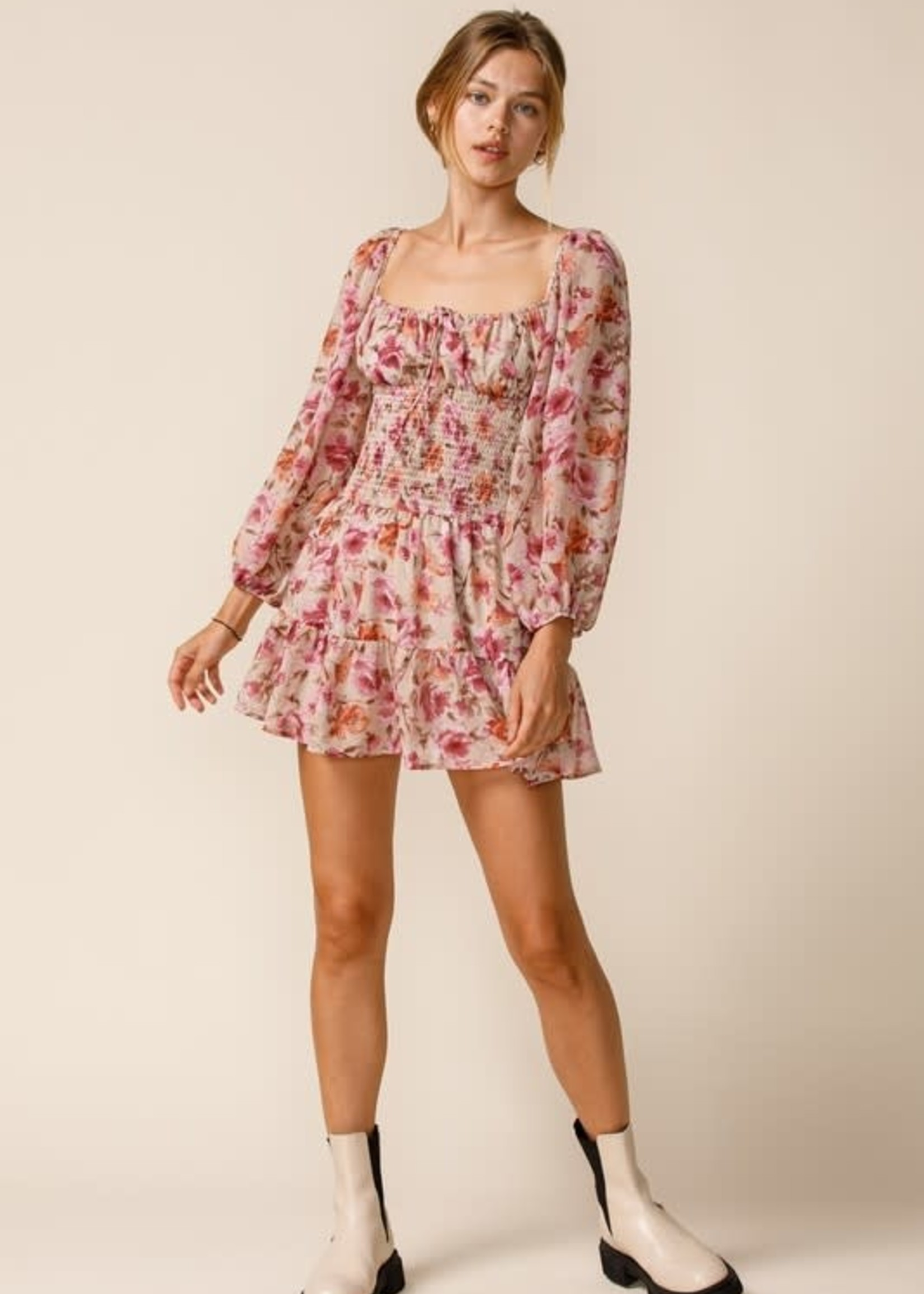Falls Best Floral Ruffle Dress
