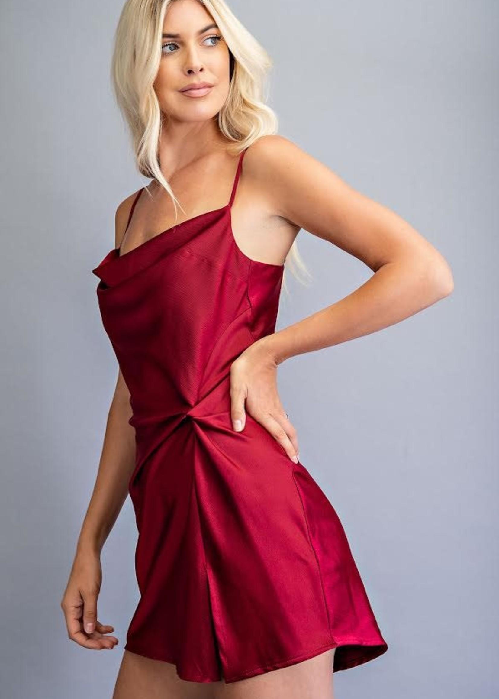 Best Night Ever Burgundy Dress
