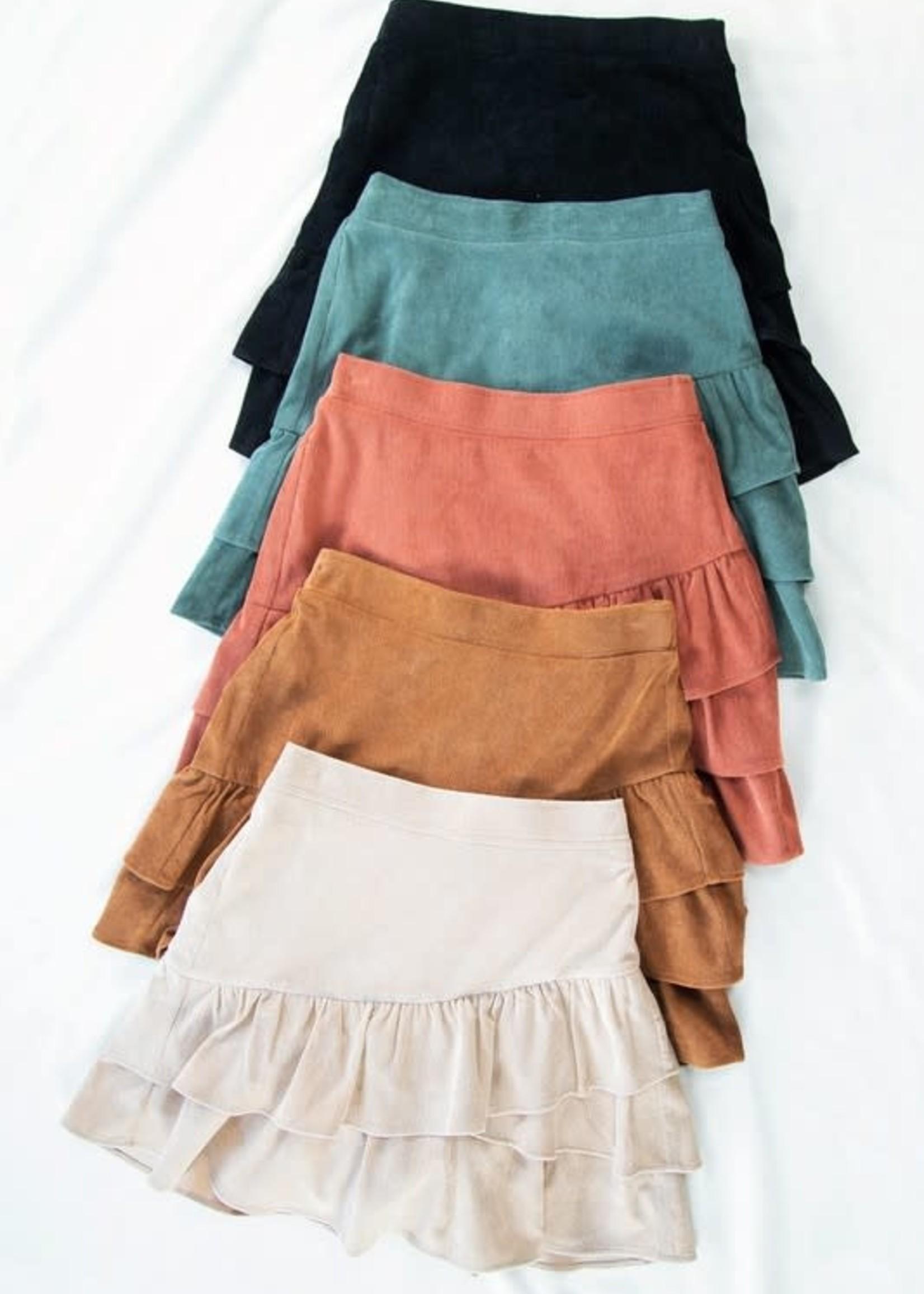 Fall Ruffle Skirt (3 Colors)
