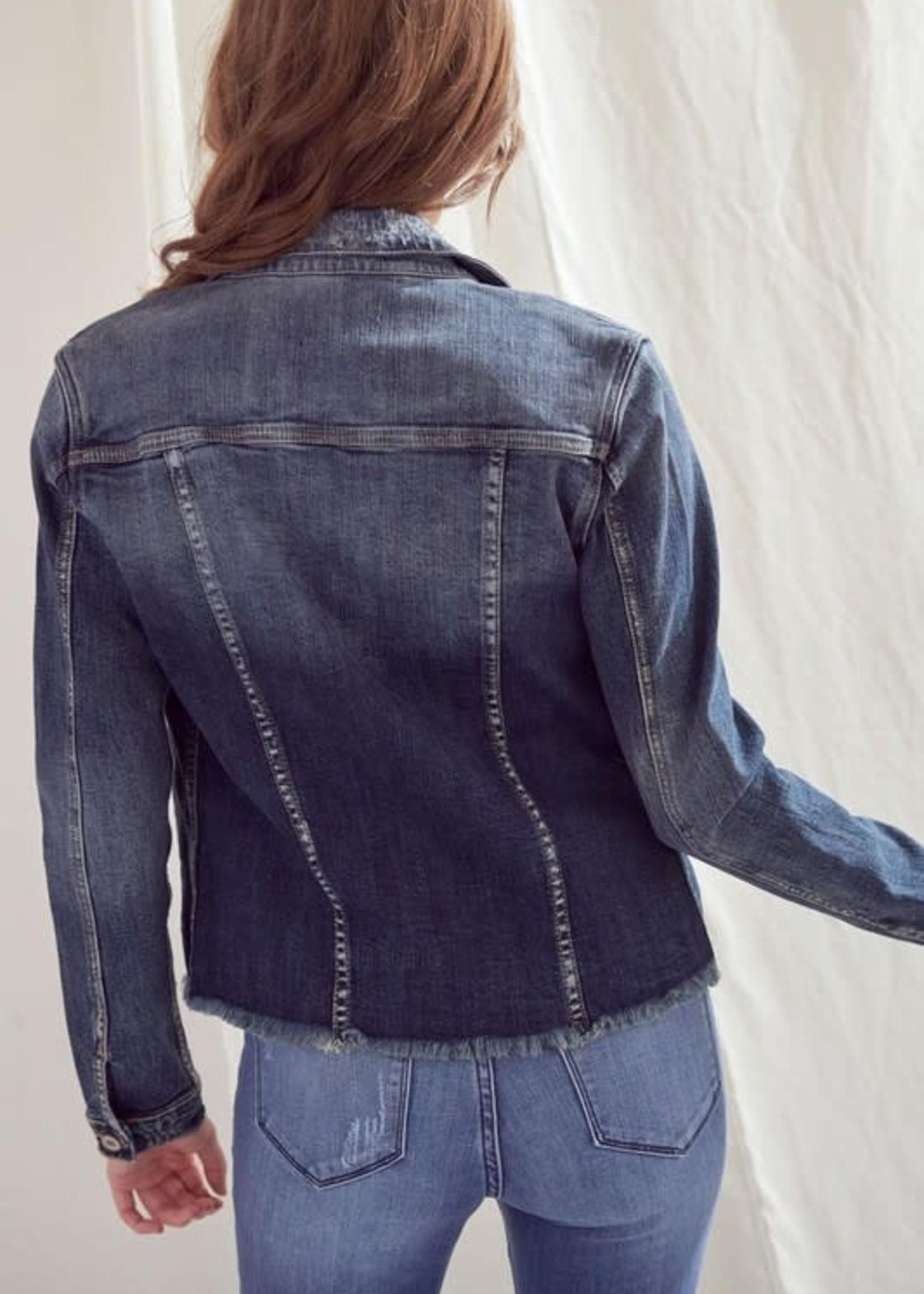 KanCan Dark Wash Denim Jacket