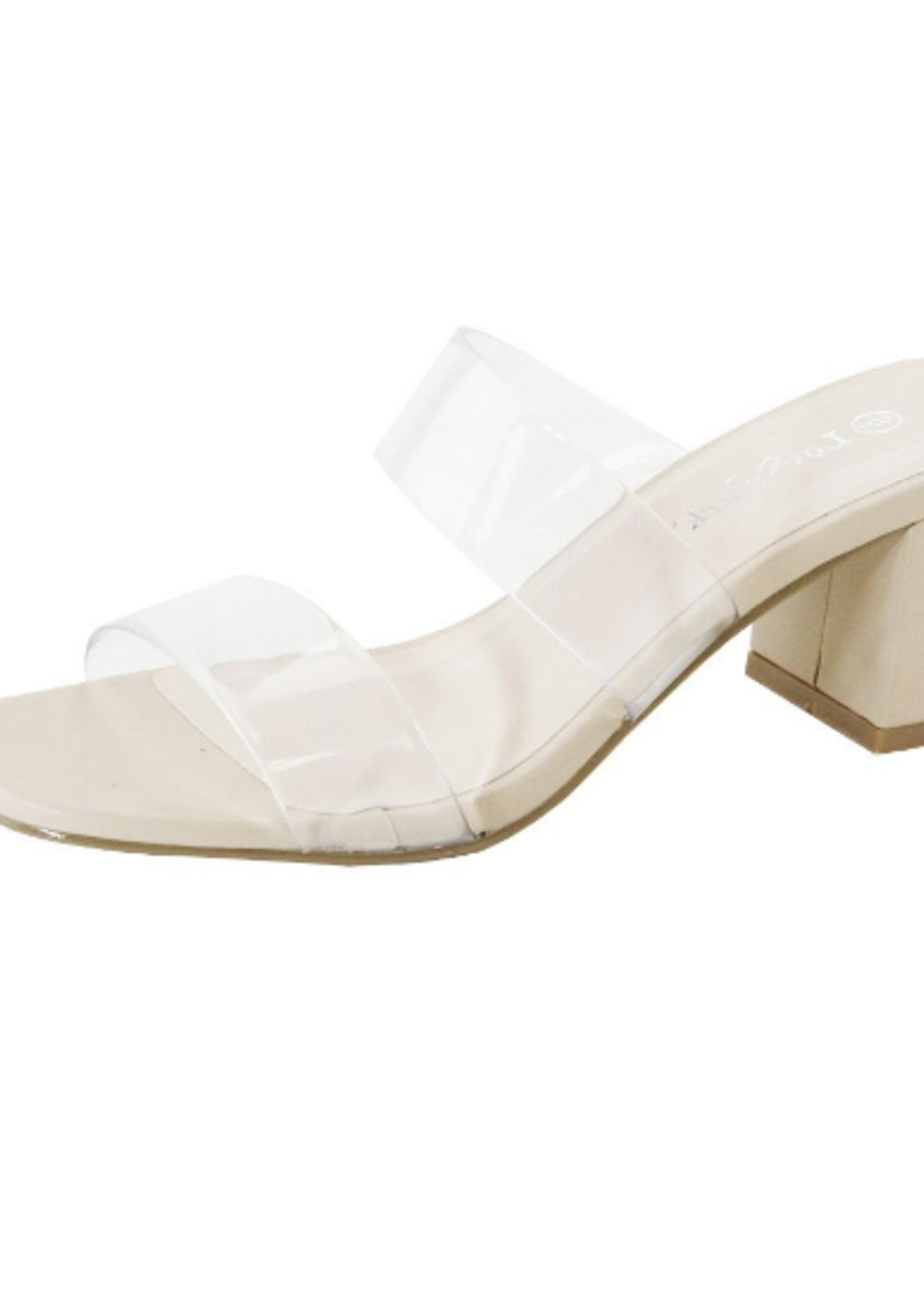 Lower Heel Clear Slides