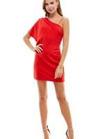 One Shoulder and Wonder Red Dress