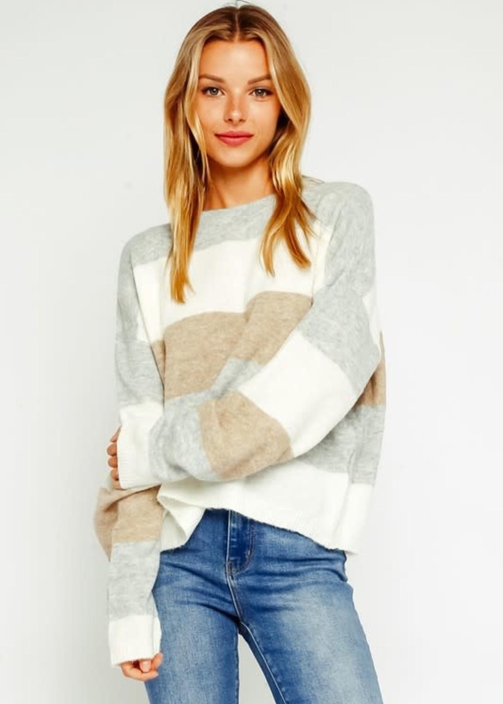 Neutrals Stripes Sweater