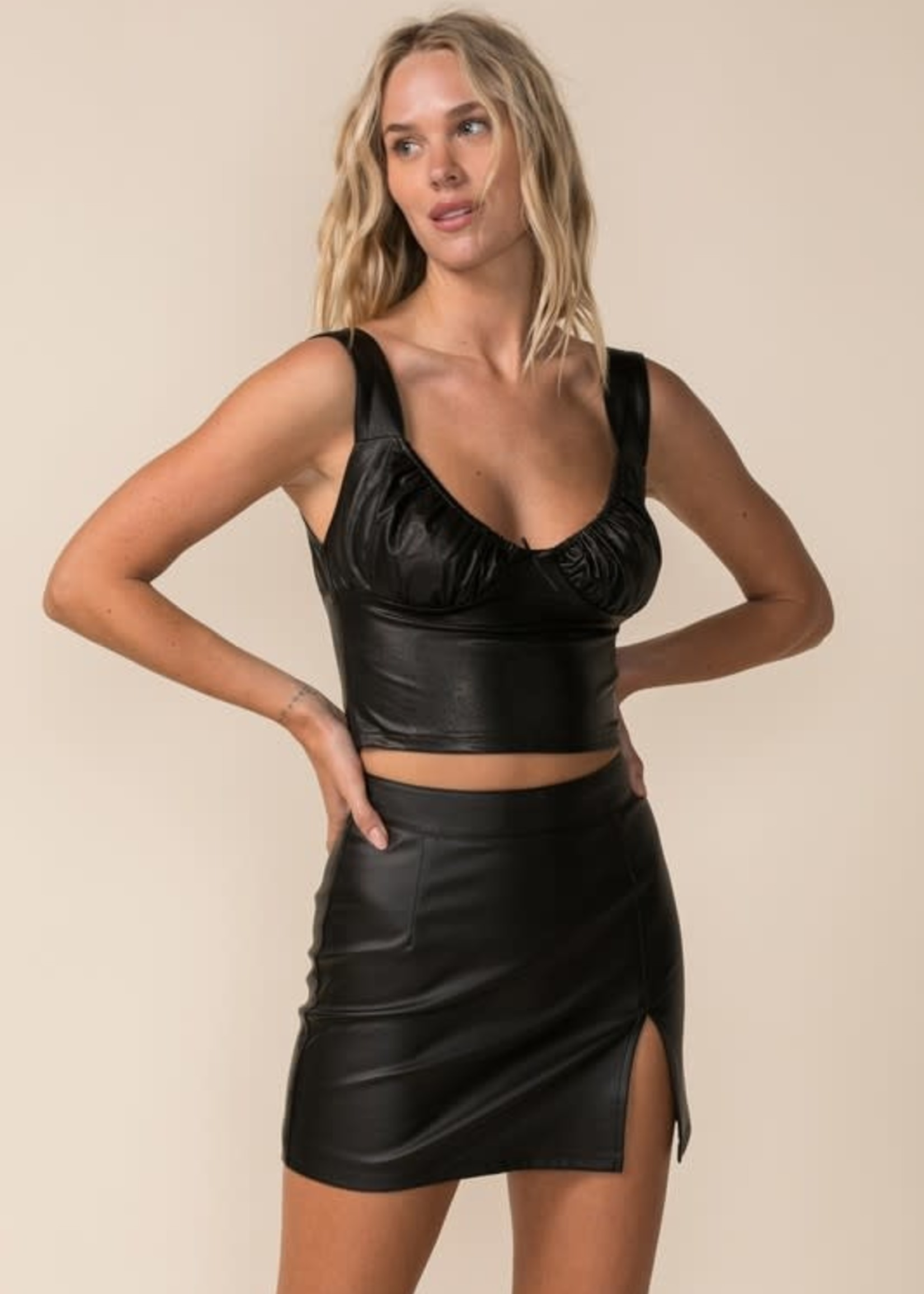 Bring It Back Leather Top