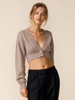 More To Love Mocha Crop Sweater