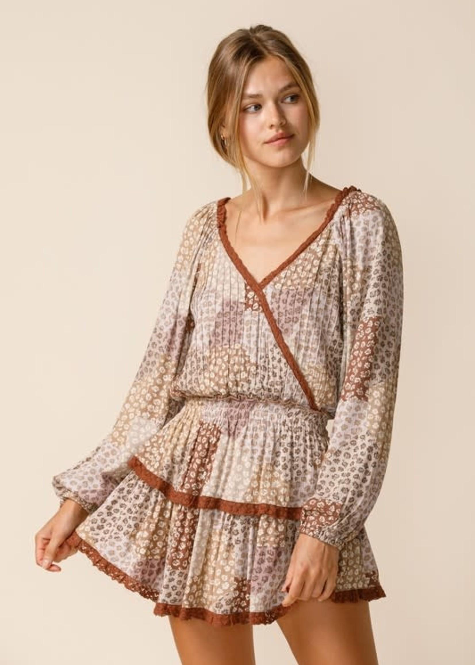 I Am Falling Printed Dress