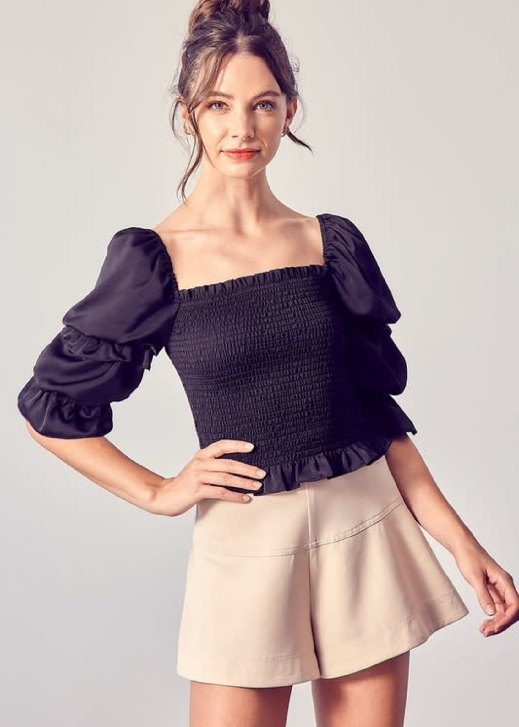 Smock with Love Ruffle Top (2 Colors)