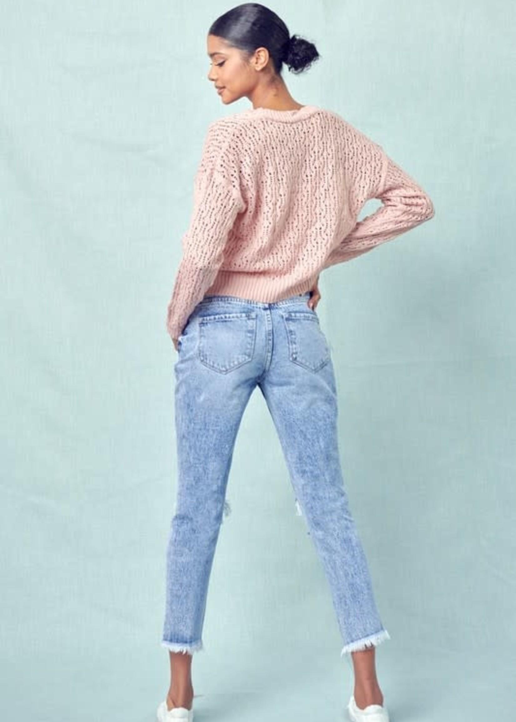 High Rise Medium Wash Mom Jeans