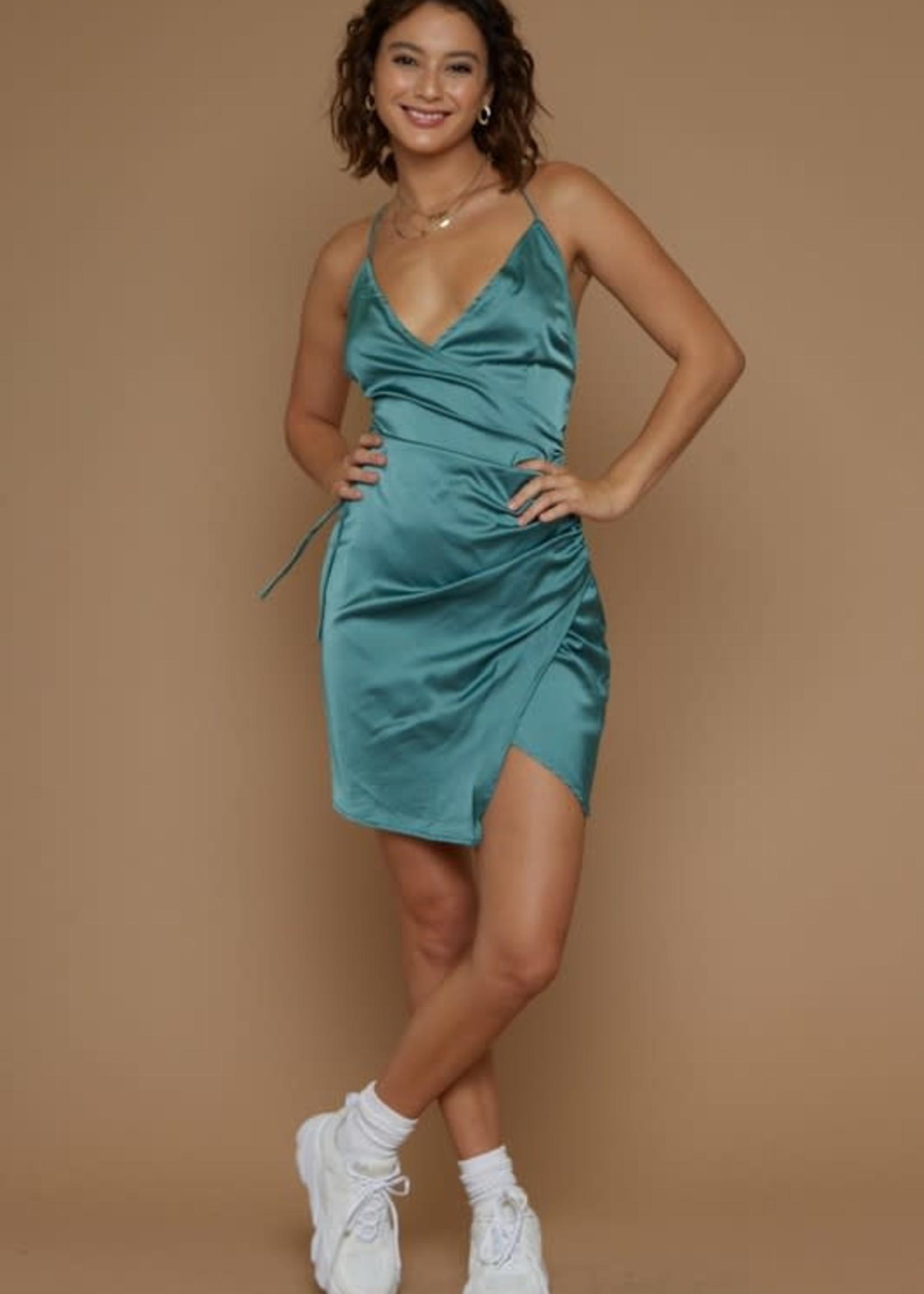 Save The Date Satin Dress