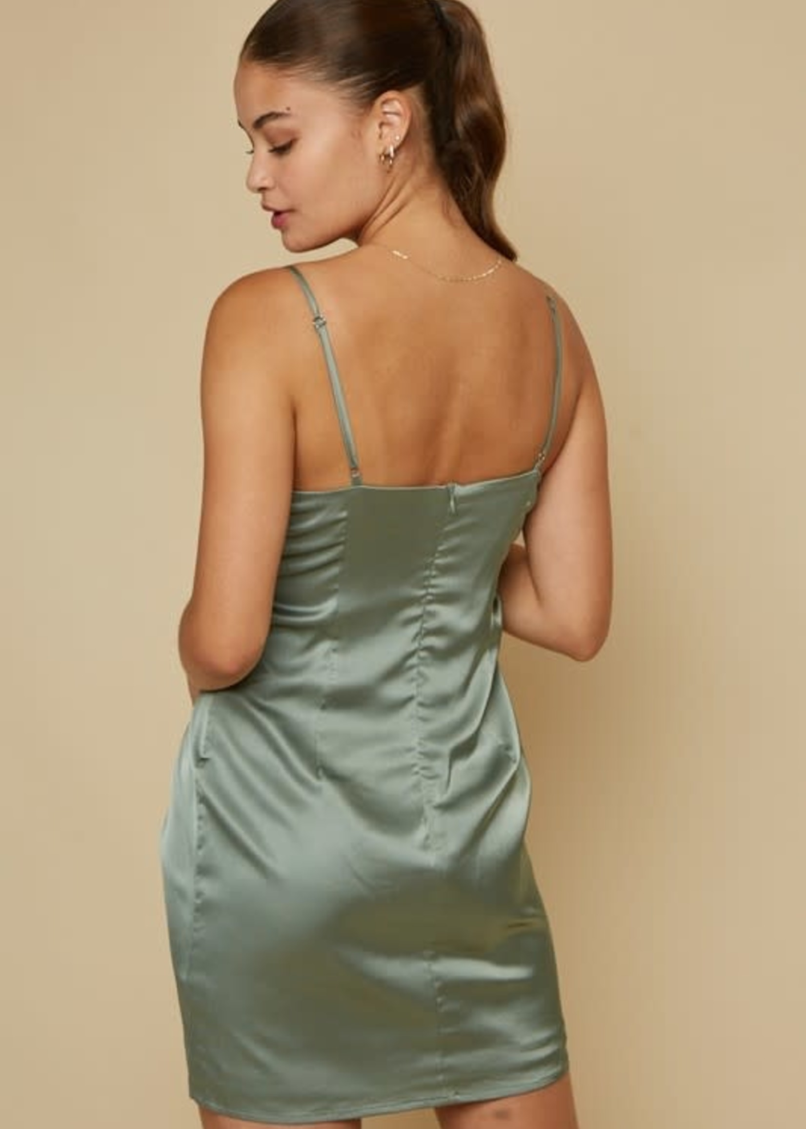 Twisted Satin Dress (2 Colors)