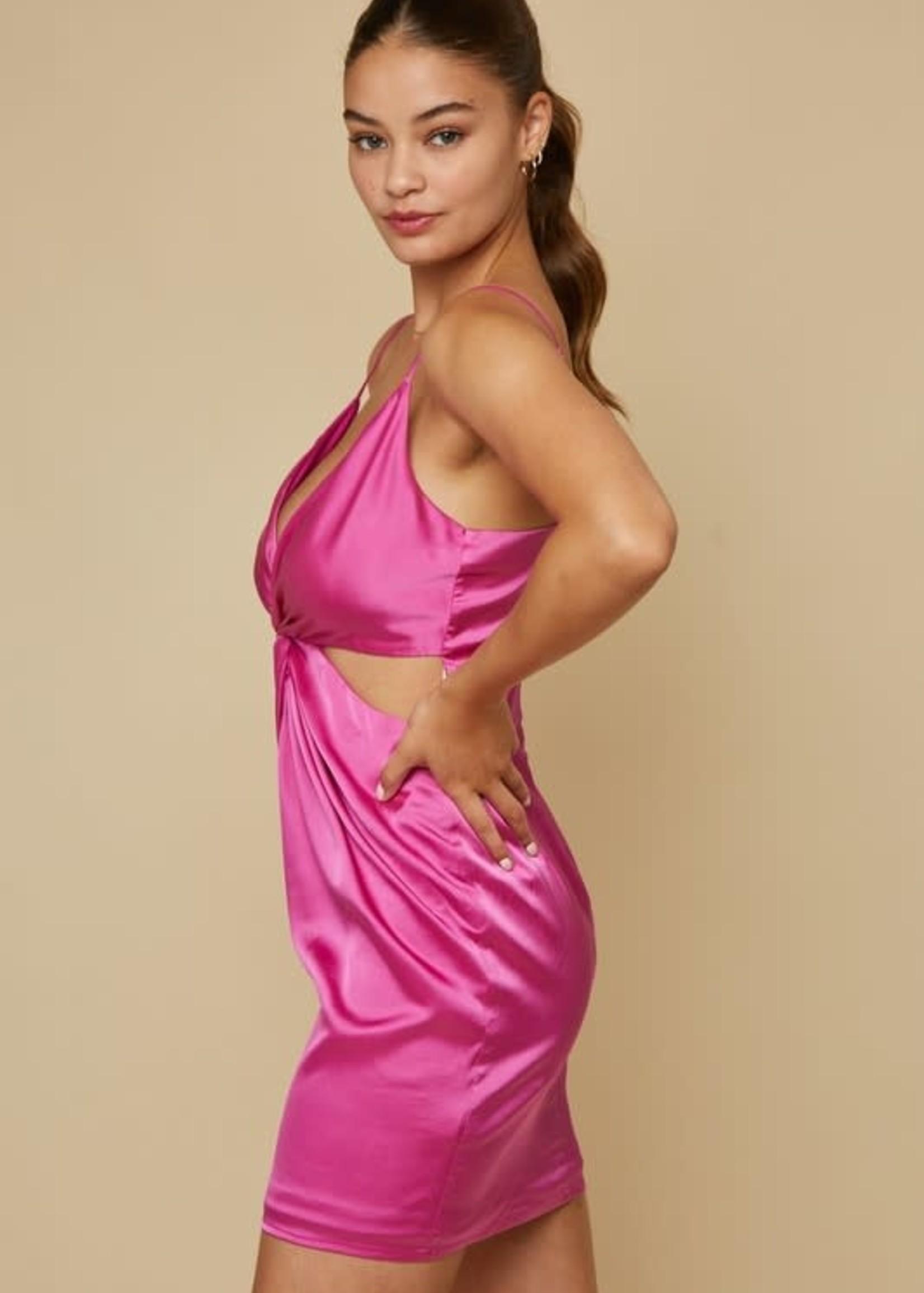 Twisted Hot Pink Dress