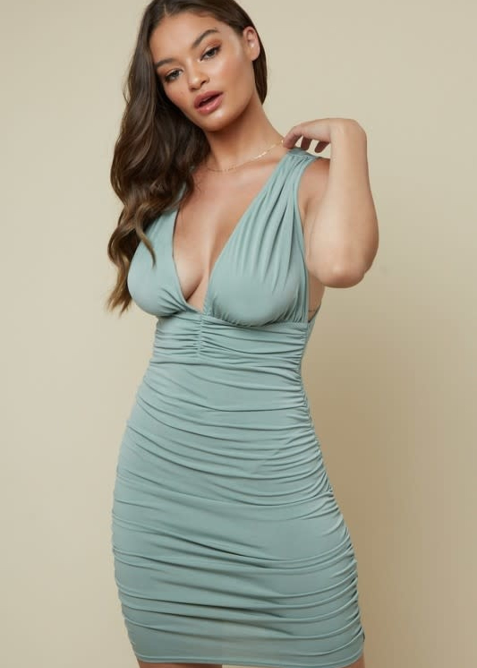 Now Or Never Sage Dress