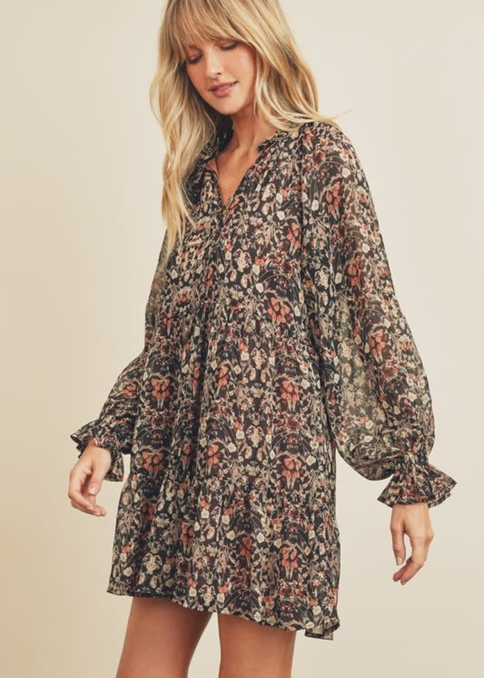 Fall Florals Forever Dress