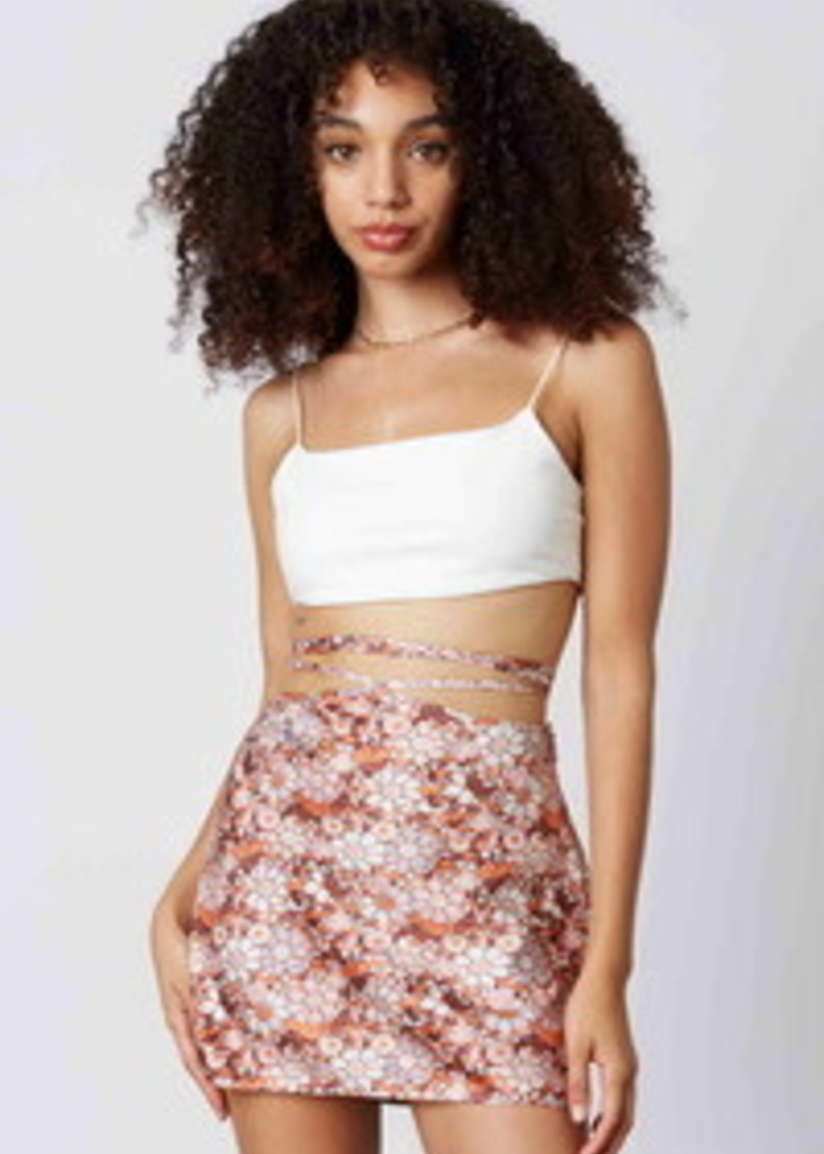 Wrap It Up Fall Floral Skirt