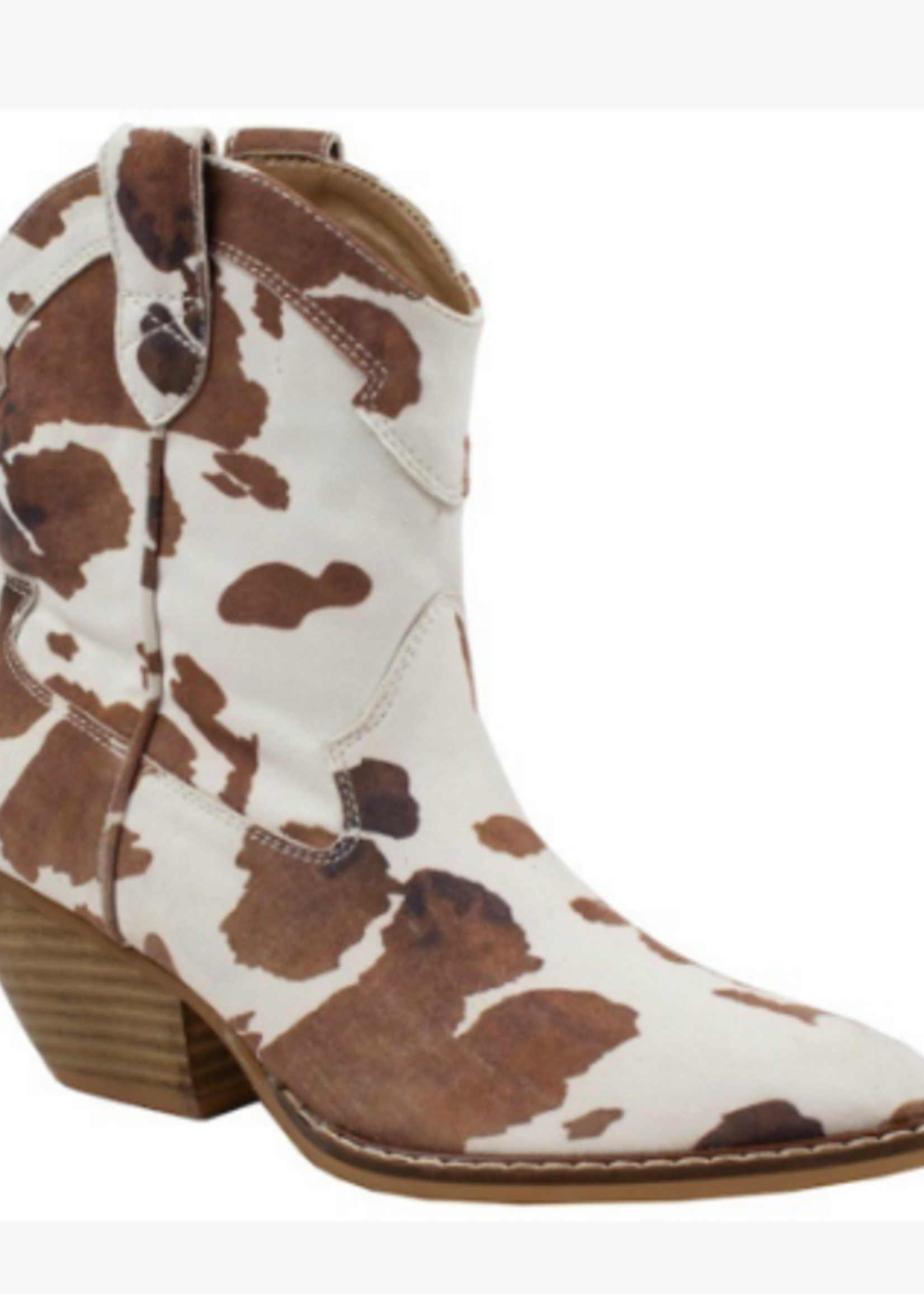 Bet On It Brown Cow Print Boots