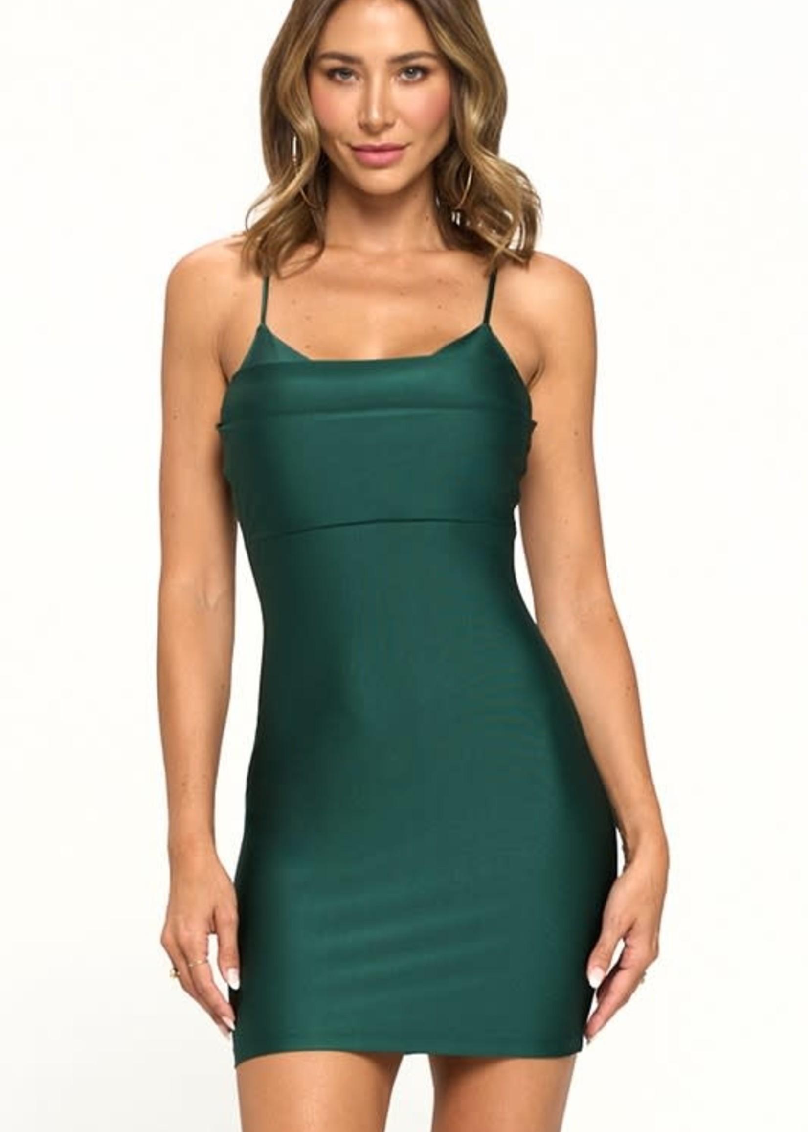 TIme To Celebrate Hunter Green Dress
