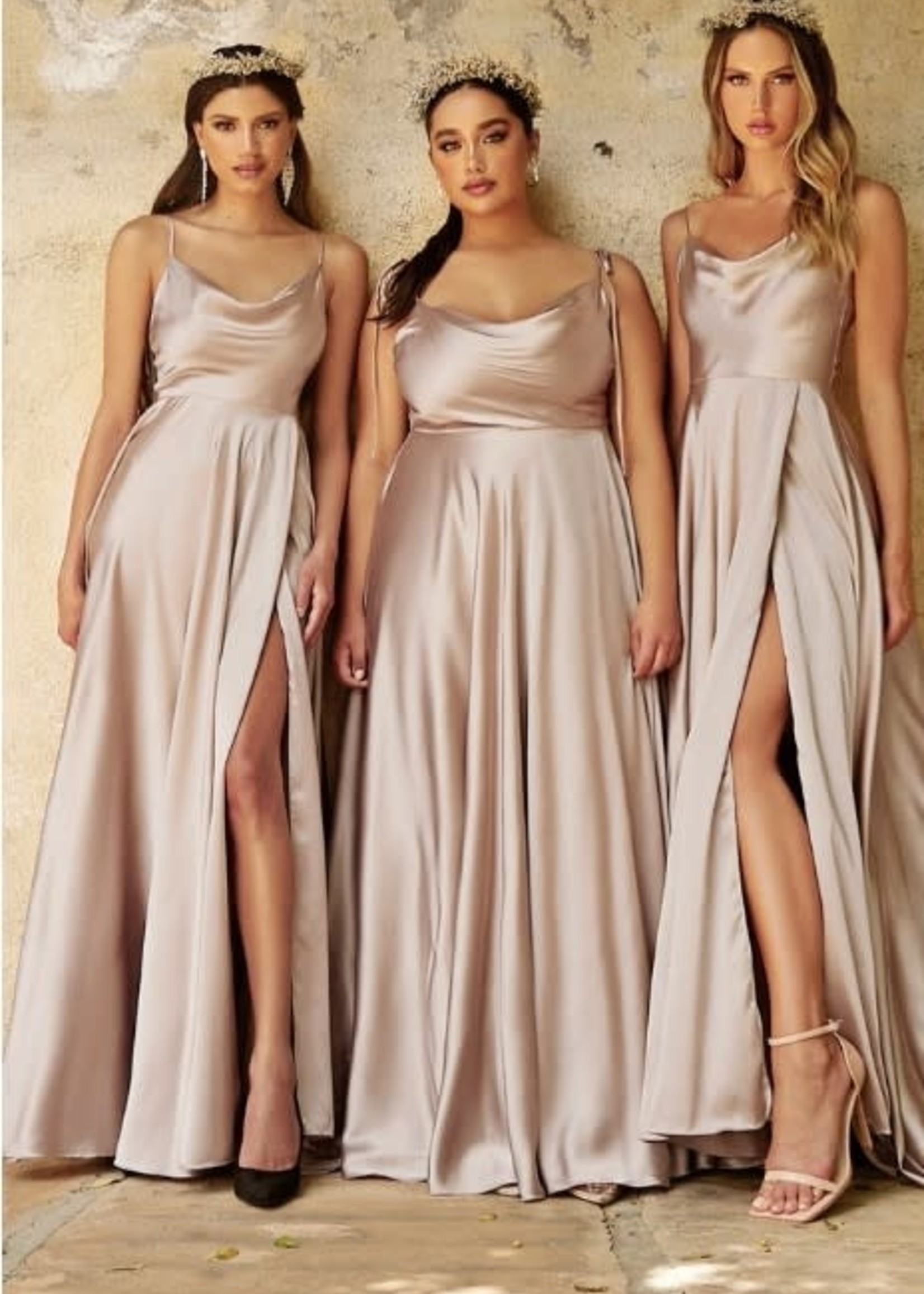Satin Dream Long Formal Dress (Available in 8 Colors)