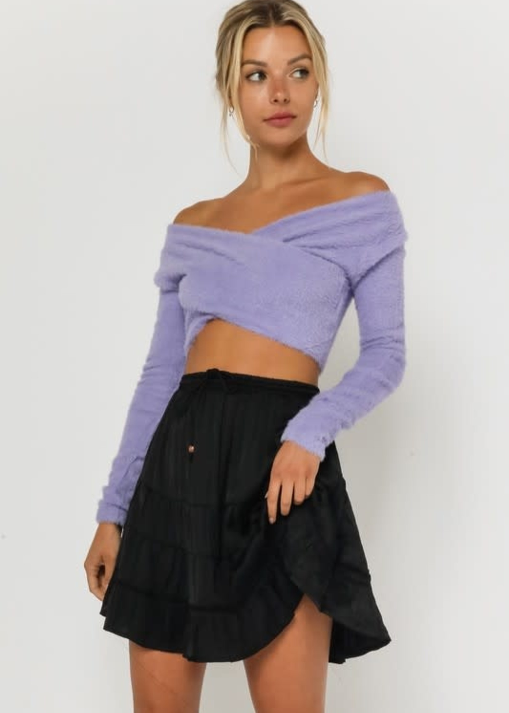 Fuzzy Crop Sweater (2 Colors)