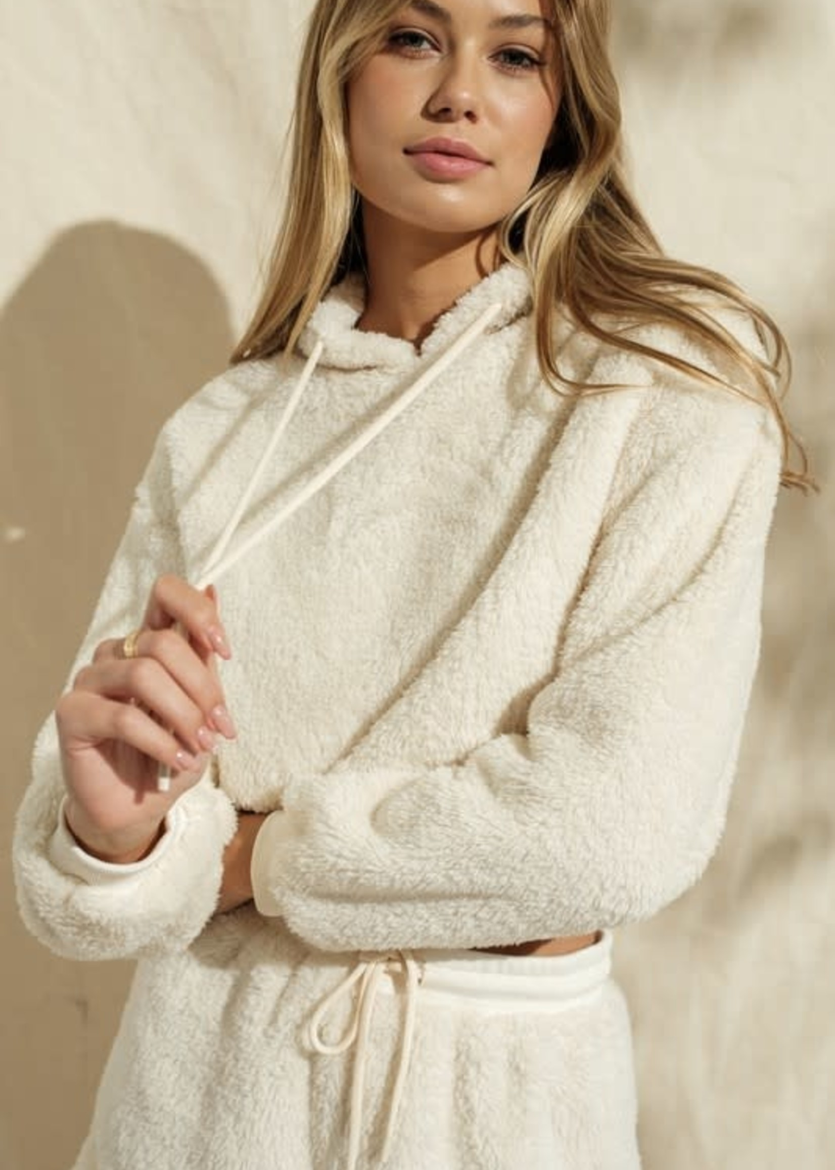 Fuzzy Wuzzy Crop Hoodie (2 Colors)