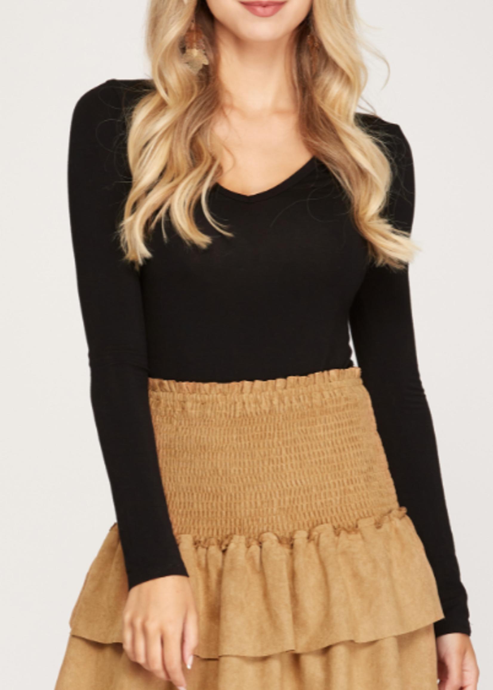 Cute In Camel Suede Skirt